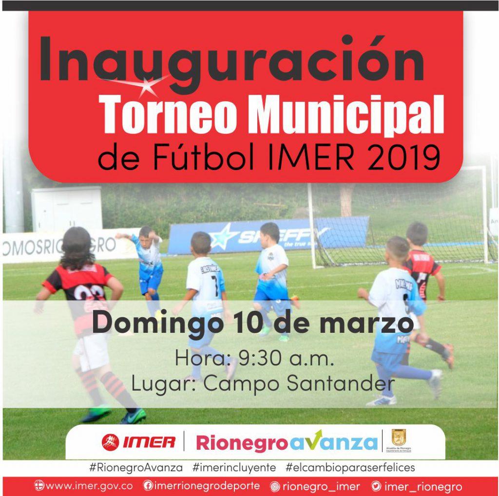 Con más de 200 equipos en competencia se dará inicio al Torneo IMER 2019.