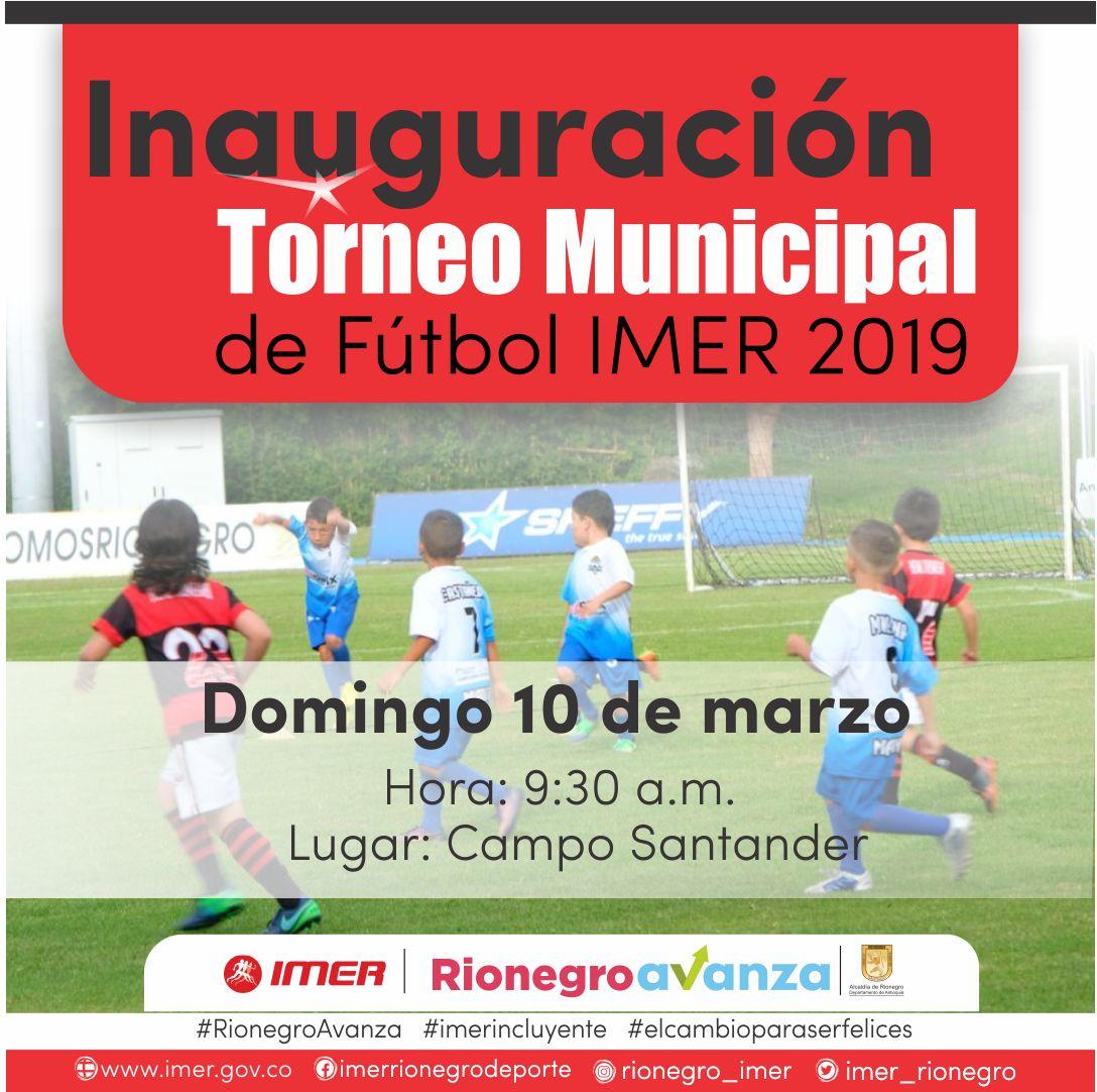 COMIENZA EL TORNEO IMER 2019